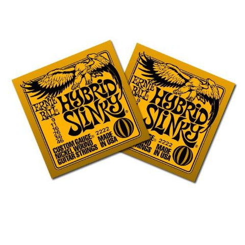 Ernie Ball 2222 Electric Guitar Strings - Hybrid Slinky Nickel Wound - 9-46