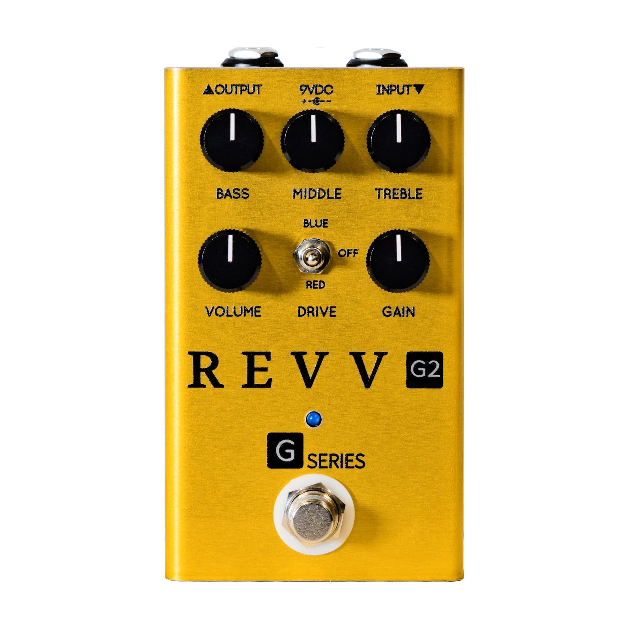 Revv Amplification G2 Dynamic Overdrive, Gold (Limited Edition)