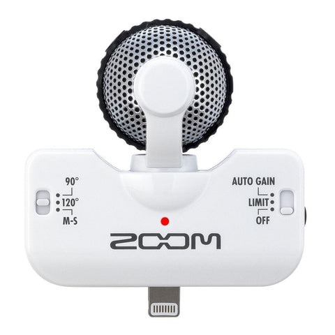 Zoom iQ5W Professional Stereo Microphone for iOS (White)