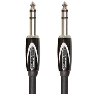 Roland RCC-10-TRTR Black Series 1/4 Inch TRS Interconnect Cable, 10 ft