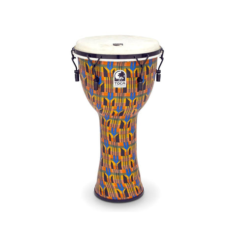 "Toca SFDMX-12K Mechanically Tuned 12"" Djembe, Kent Cloth"