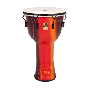 Toca SFDMX-14FB Mechanically Tuned 14-Inch Djembe w/Bag, Bali Red