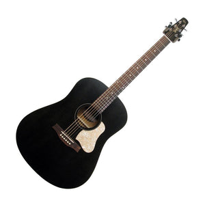 Seagull S6 Original Slim Acoustic Guitar, Flat Black with Bag (Gear Hero Exclusive)