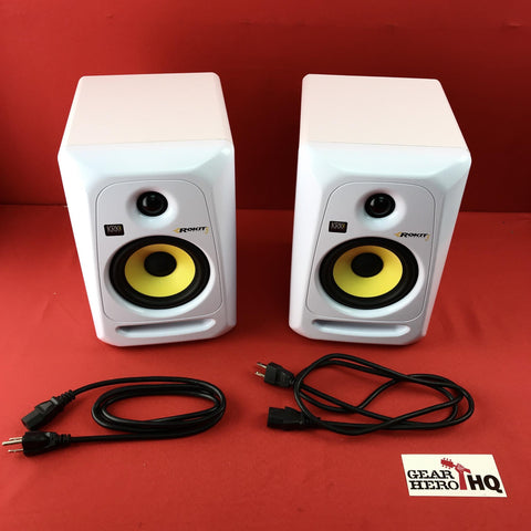 [USED] KRK RP5G3WN-NA Rokit 5 Generation 3 Powered Studio Monitor - White - Pair
