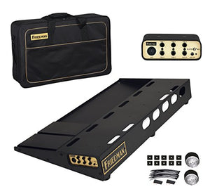"Friedman Tour Pro 1530 Gold Pack 15"" x 30"" Pedal Board with Riser, Professional Carrying Bag, and Buffer Bay 6"