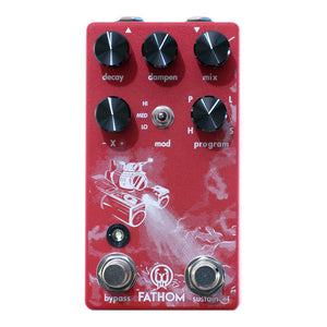 Walrus Audio Fathom Multi-Function Reverb, Red (Gear Hero Exclusive)
