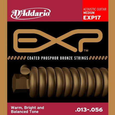 D'Addario EXP17 Coated Acoustic Guitar Strings, Medium