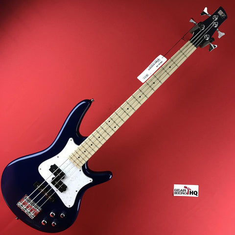 [USED] Ibanez SRMD200SBM SR Mezzo Electric Bass Guitar, Sapphire Blue Metallic