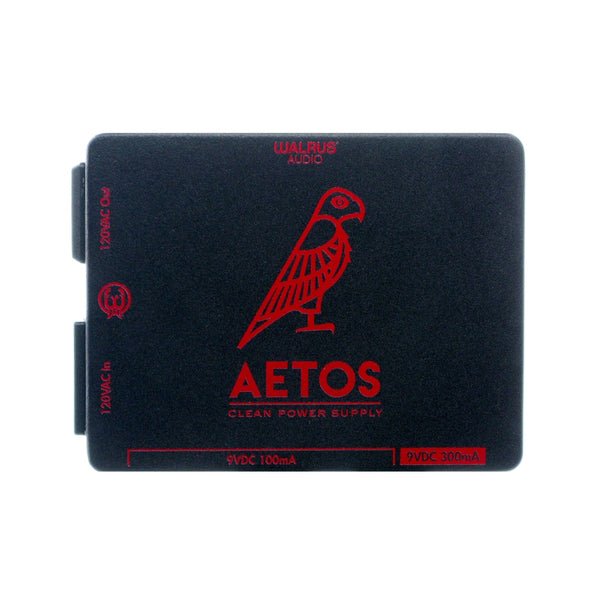 Walrus Audio Aetos 8 Output Power Supply, Black/Red (Gear Hero Exclusive)