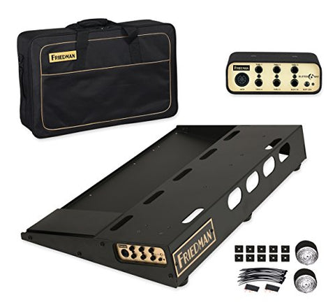"Friedman Tour Pro 1525 Gold Pack 15"" x 25"" Pedal Board with Riser, Professional Carrying Bag, and Buffer Bay 6"