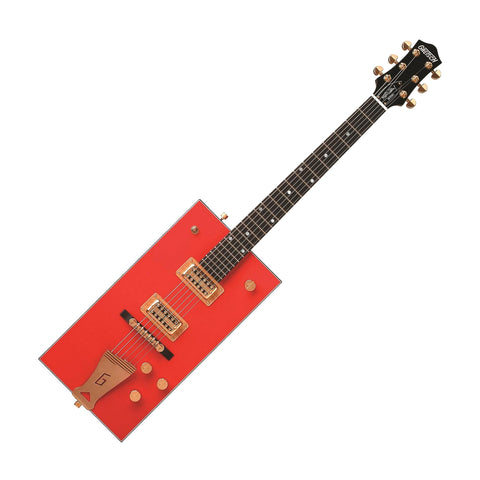"Gretsch G6138 Bo Diddley Signature Electric Guitar w/""G"" Cutout Tailpiece, Firebird Red"