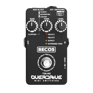 BECOS FX TS8-MS Overdrive and MIDI/Amp Channel Switcher (Gear Hero Exclusive)
