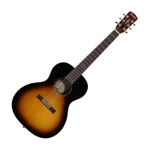 Alvarez DELTA00ETSB Artist Blues Series Acoustic-Electric Guitar, High Gloss Vintage Burst Finish