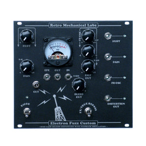 Retro Mechanical Labs Electron Fuzz Custom Eurorack, Fallout Black
