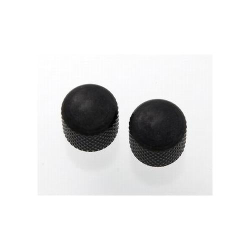 All Parts MK-3300-003 2 Black Dome Knobs Push-On fits Split Shaft Pots