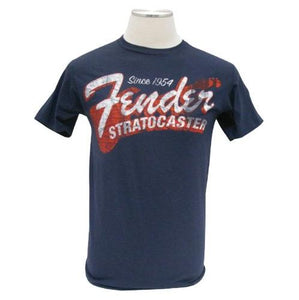 Fender® Stratocaster Since 1954 T-Shirt, Navy, L