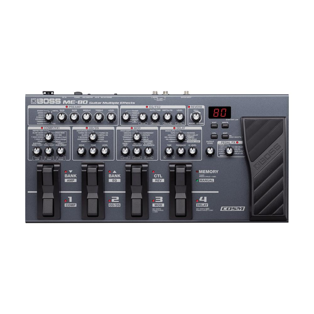 boss me 80 guitar multi effects w looper guitar pedals for any genre. Black Bedroom Furniture Sets. Home Design Ideas