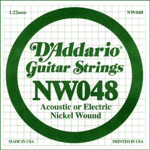 D'Addario NW048 Nickel Wound Electric Guitar Single String, .048