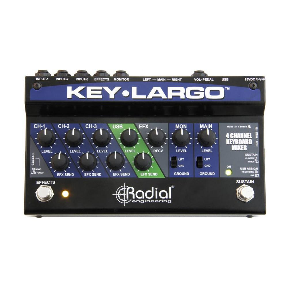 Radial Key-Largo Keyboard Mixer with Balanced DI Outs