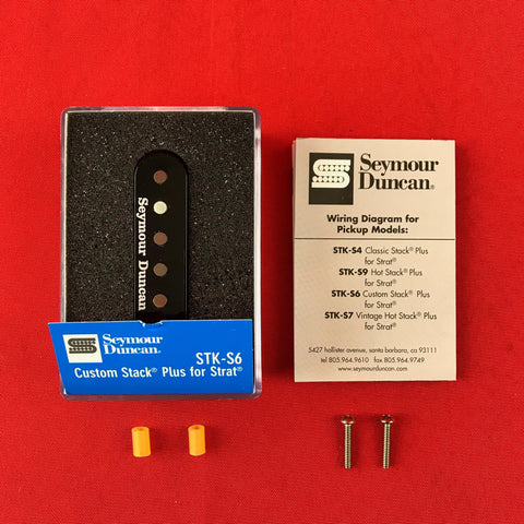 [USED] Seymour Duncan STK-S6 Custom Stack Plus, Black