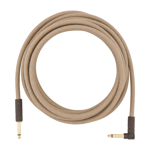 Fender 0990918021 18.6' Angled Festival Instrument Cable Pure Hemp, Natural