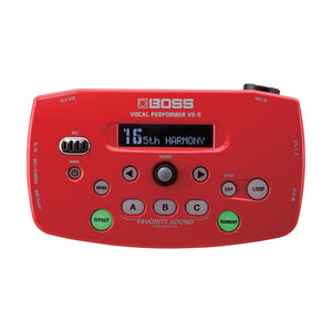 Boss VE-5-RD Vocal Performer, Red