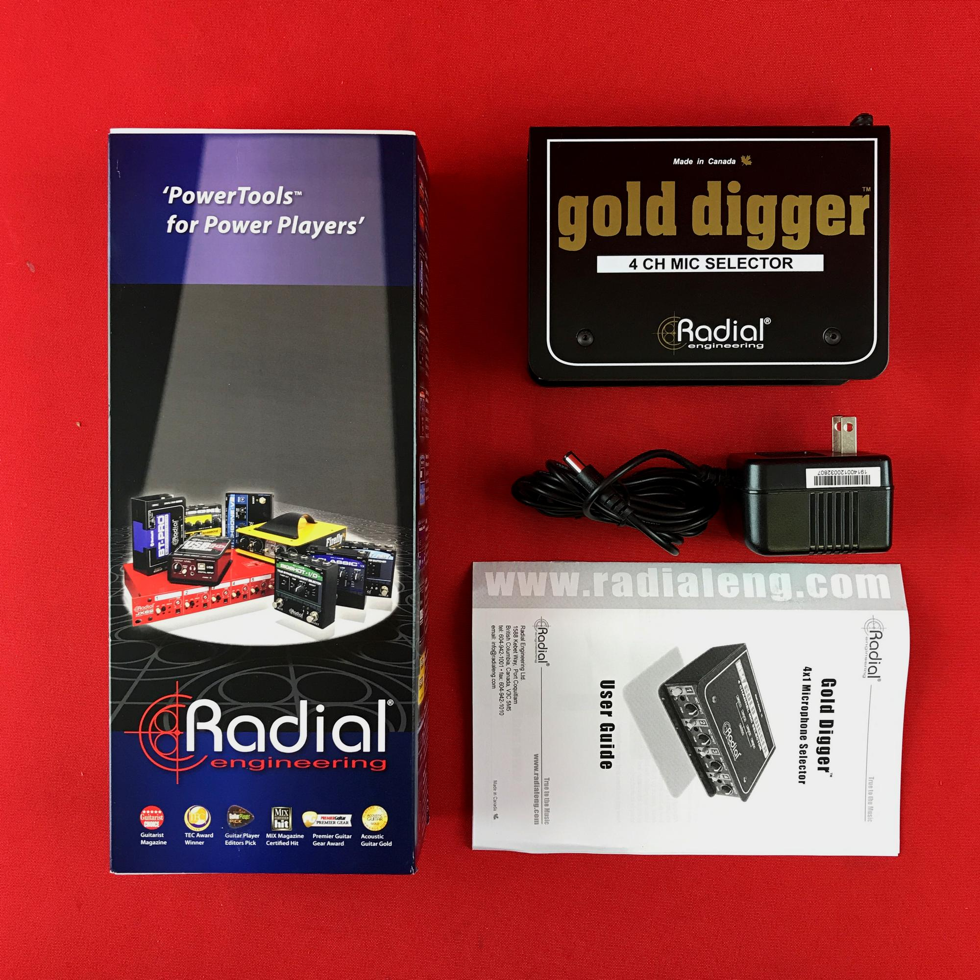 [USED] Radial Gold Digger 4-channel Mic Selector