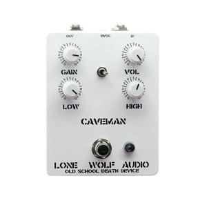 Lone Wolf Audio Caveman Death Metal Distortion, White (Gear Hero Exclusive)