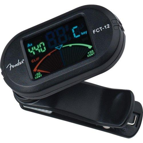 Fender FCT-12 Color Clip-On Tuner - Black