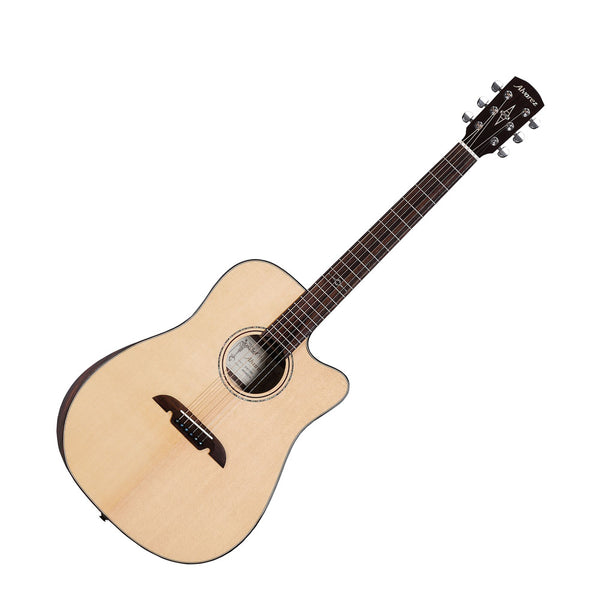 Alvarez ADE90CEAR Artist Elite Series Dreadnought Acoustic-Electric Guitar, Natural Gloss Finish