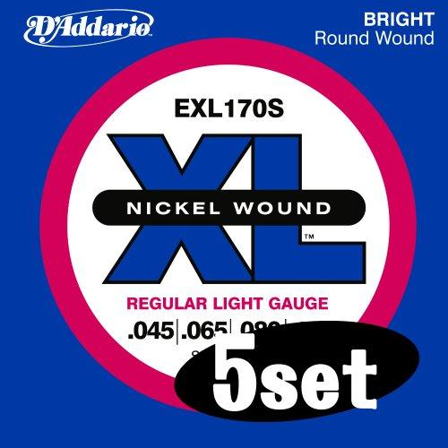 D'Addario EXL170S 45-100 Nickel Wound Bass Guitar Strings, Short Scale