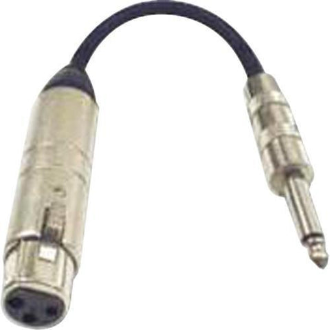 Hosa MIT-176 Impedance Transformer 6in, XLR3F-1/4TS