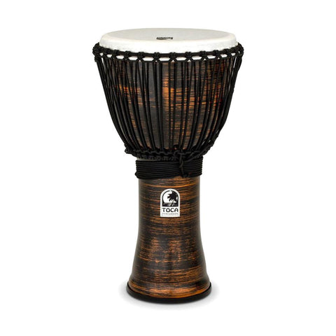 Toca TF2DJ-12SC Freestyle II Rope Tuned 12-Inch Djembe, Copper Spun