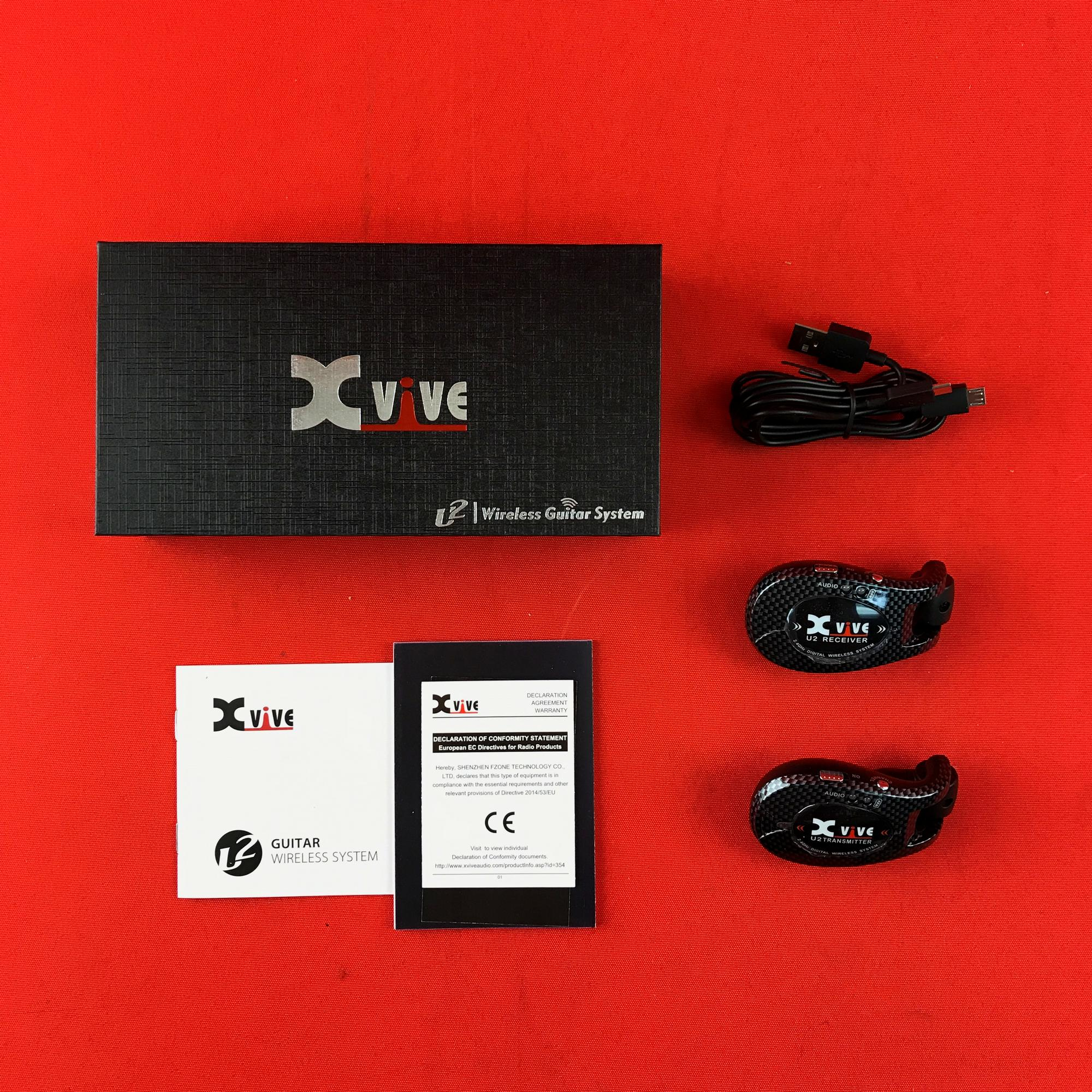 [USED] Xvive U2 2.4GHZ Wireless Guitar System, Carbon