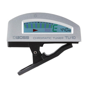 BOSS TU-10-SV Clip-On Chromatic Tuner, Silver
