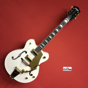 [USED] Gretsch G5422TDCG Electromatic Hollow Body Electric Guitar, Snow Crest White