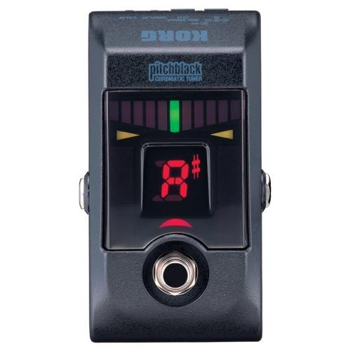 KORG PITCHBLACK TRUE BYPASS CHROMATIC TUNER PEDAL WITH 4 DISPLAY MODES