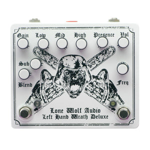 Lone Wolf Audio Left Hand Wrath Deluxe Distortion, White (Gear Hero Exclusive)