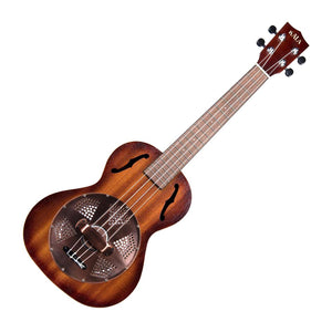 Kala Tenor Resonator Ukulele with Brass Cover, Mahogany Burst