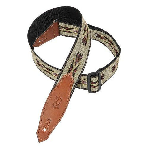 Levy's Jacquard Weave Guitar Strap Geometric Native, Tan