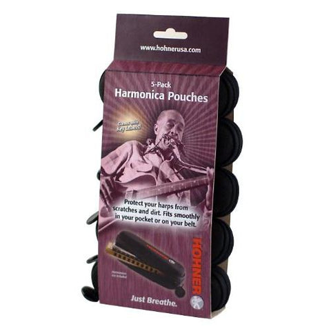 Hohner HPN5 Harmonica Soft Pouch 5-Pack