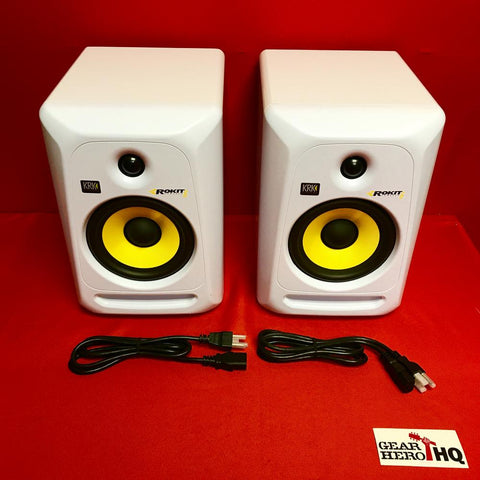 [USED] KRK RP6G3W-NA Rokit 6 Generation 3 Powered Studio Monitor - White - Pair