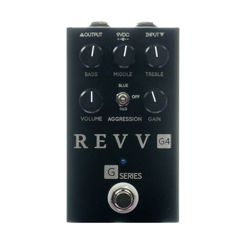 Revv Amplification G4 High Gain Distortion, Blackout Edition (Gear Hero Exclusive)