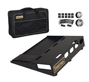 "Friedman Tour Pro 1520 Standard 15"" x 20"" Pedal Board with Riser and Professional Carrying Bag"