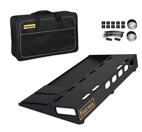 "Friedman Tour Pro 1530 Standard 15"" x 30"" Pedal Board with Riser and Professional Carrying Bag"