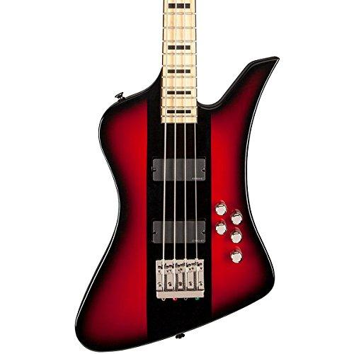 Jackson David Ellefson Signature Kelly Bird 4-String Electric Bass Maple Fingerboard Red Stripe