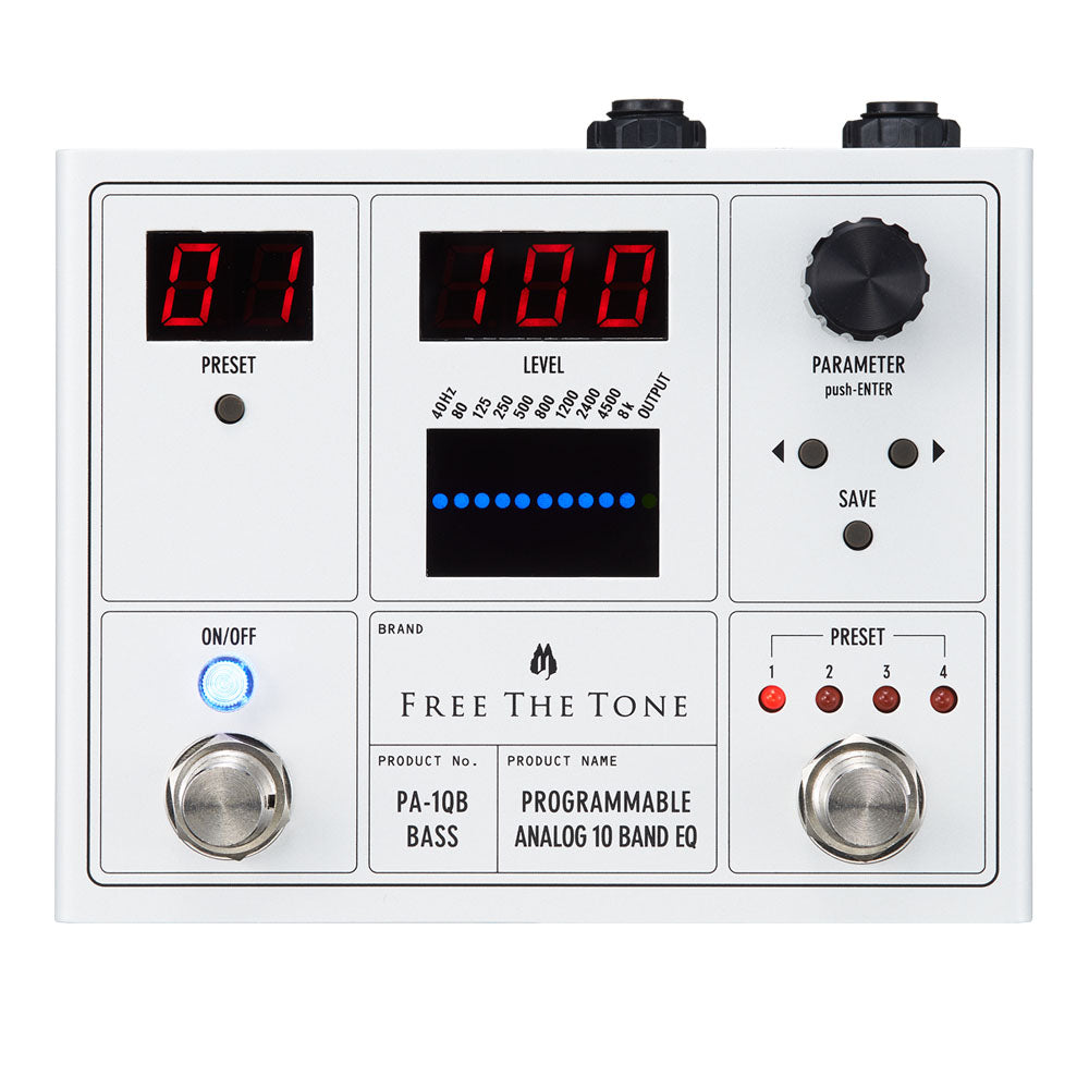 Free The Tone PA-1QB Programmable Analog 10-band EQ for Bass