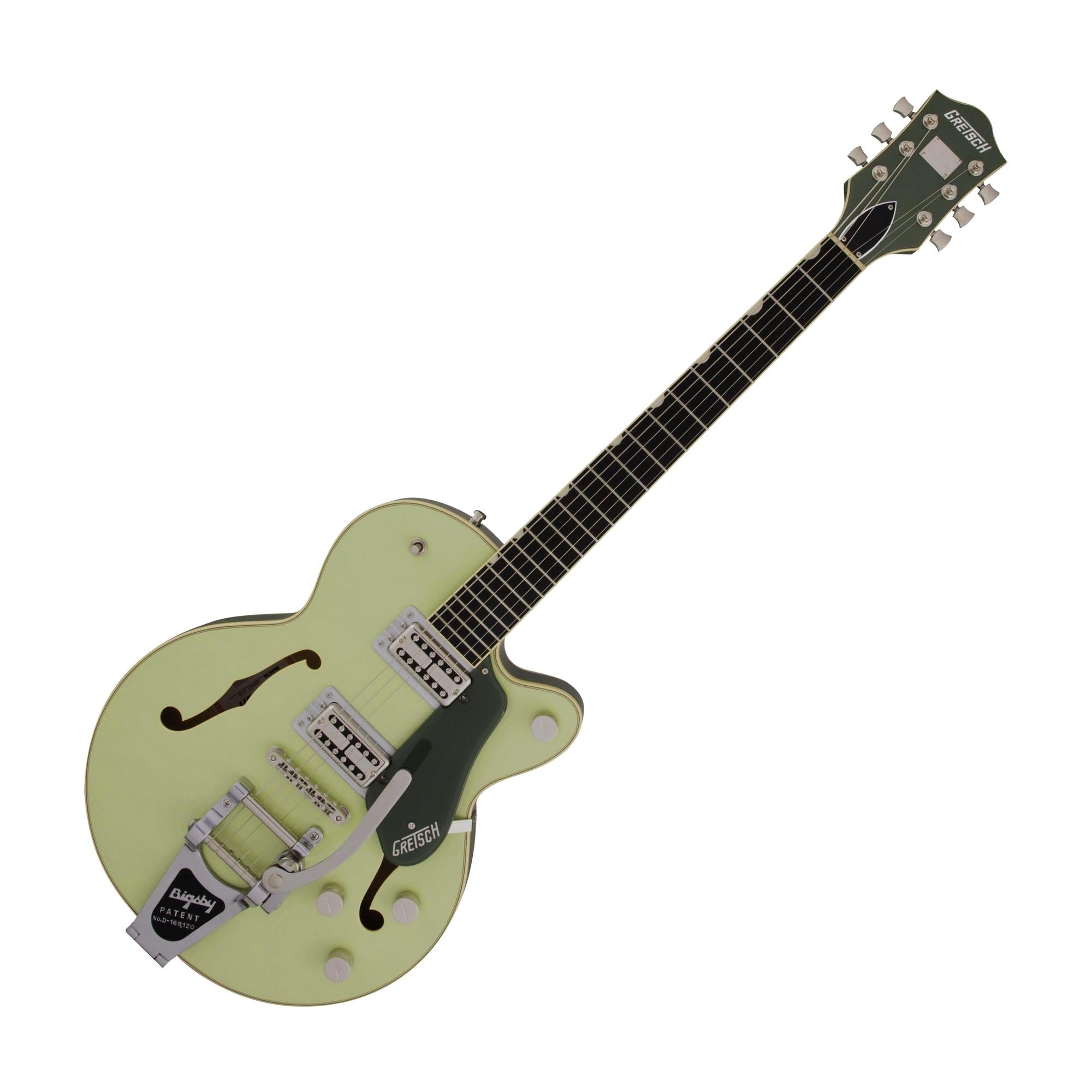 Gretsch G6659T Players Edition Broadkaster Jr. Center Block Single-Cut w/Bigsby, Two-Tone Smoke Green
