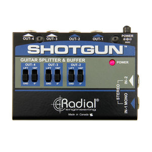 Radial Shotgun 4-channel Amp Driver
