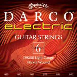 Darco 9200 Nickel Plated Electric Guitar Strings, Light